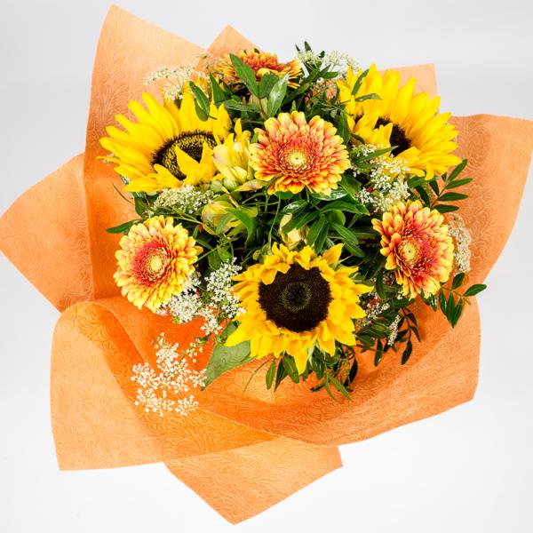 Letná slnečnicová kytica