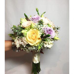 Farebná svadobná retro kytica