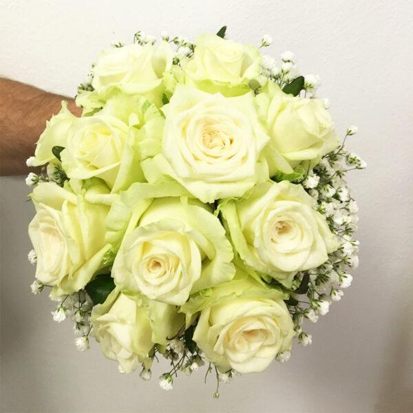 Krémová svadobná kytica
