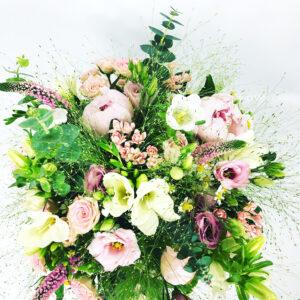 Ružová poľná kytica