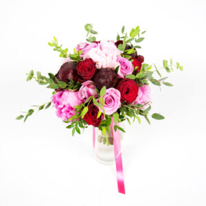 Ružovo bordová kytica