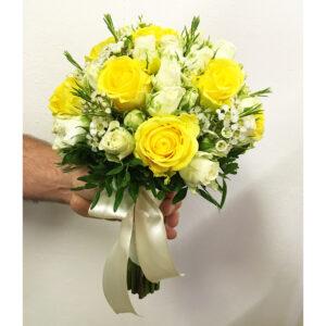 Slnečná svadobná kytica