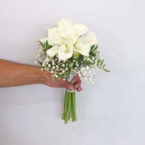 Svadobná kytica z bielych kál