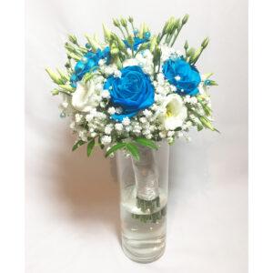 Svadobná kytica z modrých ruží