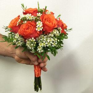 Svadobná kytica z oranžových ruží