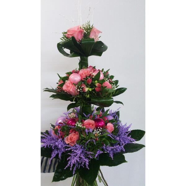 poschodová fialová kytica