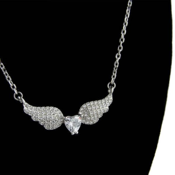 Box s mini gerbier s náhrdelníkom v tvare krídel